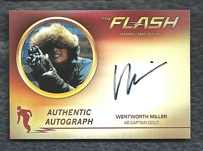 2017 Cryptozoic Flash Season 2 Autograph Wentworth Miller As Captain Cold Wm2