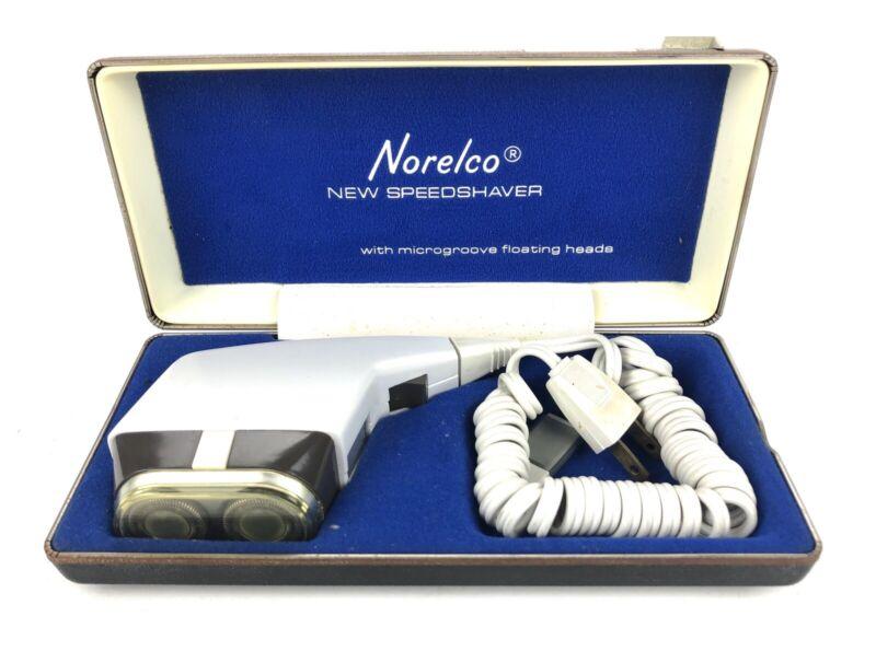 Vintage Norelco Speedshaver With Trimmer Electric Shaver Razor White
