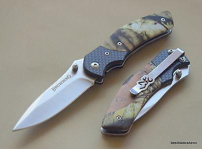 Liner Locking Folding Knife (BROWNING CAMO HANDLE LINER-LOCK FOLDING POCKET KNIFE WITH POCKET CLIP  )