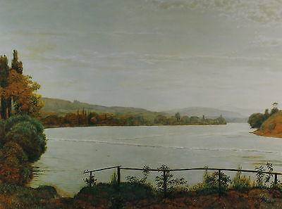 Hans Thoma (1839-1924) : Am Bodensee - Wertiger Kunstdruck im Rahmen unter Glas