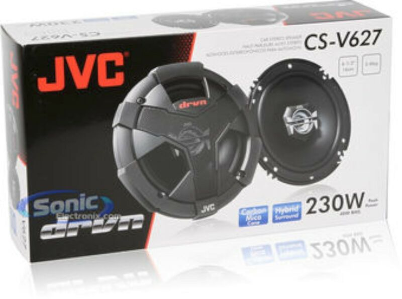 "6.5/"", 1 PAIR NEW JVC CS-V628 DRVN Series 6-1//2/"" 2-way Car Speakers"