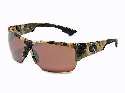 $199 Costa Del Mar Hatch Polarized Sport Sunglasses Mossy Oak Silver Mirror 580P