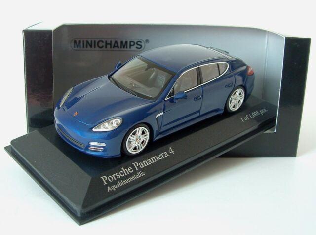 Minichamps 1/43 Porsche Panamera 4 2011 AquaBlau Blue Metallic 400 068220