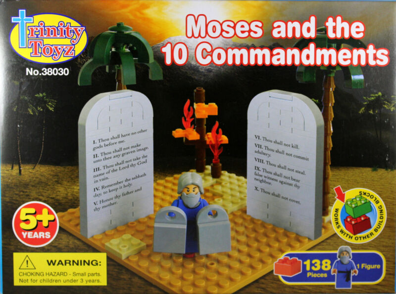 Moses and The 10 Commandments Building Blocks NEW Trinity Toyz Work W/Other Sets