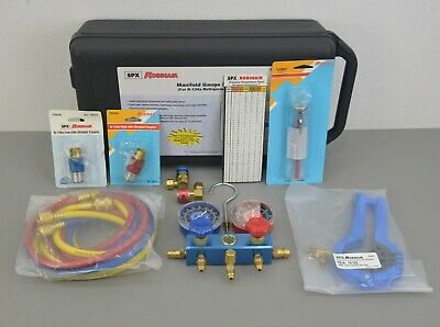 New Spx Robinair R134a Manifold Gauge Set 13136 W Case Hvac Ac Refrigeration