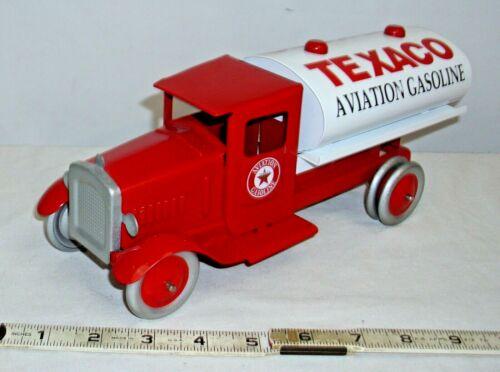 SPEEDCAST 1930s STYLE TEXACO AVIATION TANKER TRUCK PRESS STEEL TOY