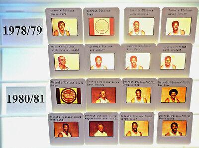 1975-96 NBA TV card /slide tm sets Detroit Pistons U PICK Laimbeer Thomas Rodman ()