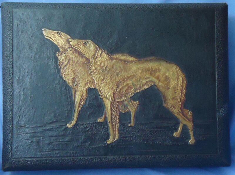 "ART DECO BORZOI BOX 11"" DOG"