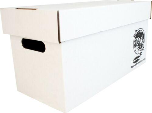 "(1) 7"" White Record Box with Lid - Vinyl Singles 45rpm Music Cardboard Storage"