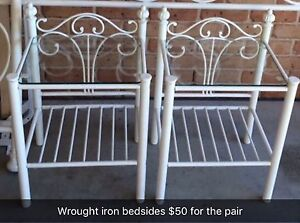 Iron bedside tables Echuca Campaspe Area Preview