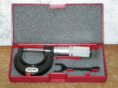 Starrett 0-1 Inch Micrometer No 436xrl W Case - .0001 - Carbide Faces