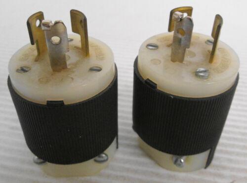 (2) Hubbell 20A 125/250V Twist Lock Plug