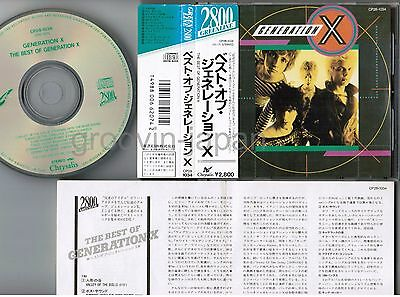 GENERATION X-BILLY IDOL The Best of JAPAN CD CP28-1034 w/OBI 1988 issue