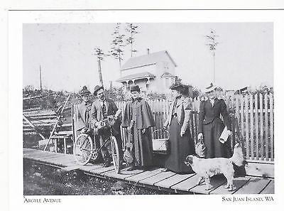 "*Postcard-""People on Way to Picnic on Argyle Avenue""..San Juan Island, WA. (#59)"