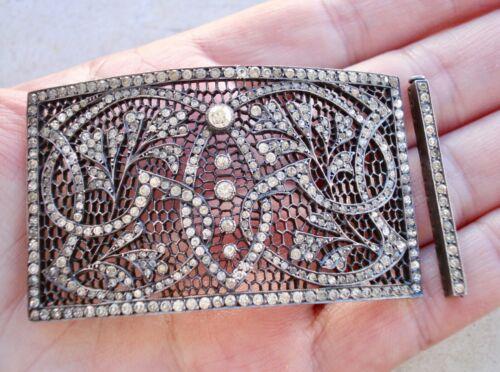 Antique EDWARDIAN GEORGIAN Sterling Silver PASTE Necklace/Bracelet ELEMENT/CLASP