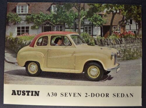 1954-1955 Austin A30 Seven 2-Door Sedan Sales Brochure Folder Excellent Original