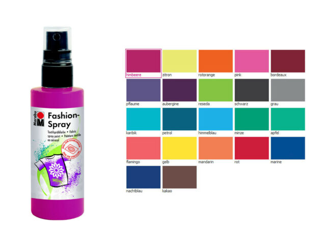 Textilspray, Stoffmalfarbe Spray, Textilfarbe Spray, Fashionspray freie Farbwahl