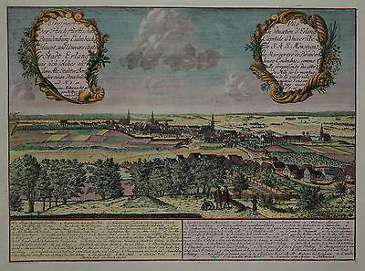 Prospect der Hochfürstlichen ... Stadt Erlang - Erlangen - J.W. Heydt 1746 - RAR