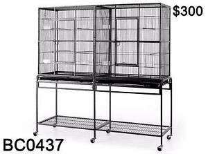 Top Quality Twin Dual Double Large Pet Bird Cage Parrot Cockatoo Richlands Brisbane South West Preview