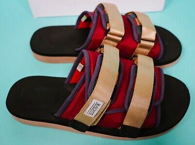 Suicoke OG-056Cab / MOTO-Cab Red Black Brown Nylon Antibacterial Sandals Slides