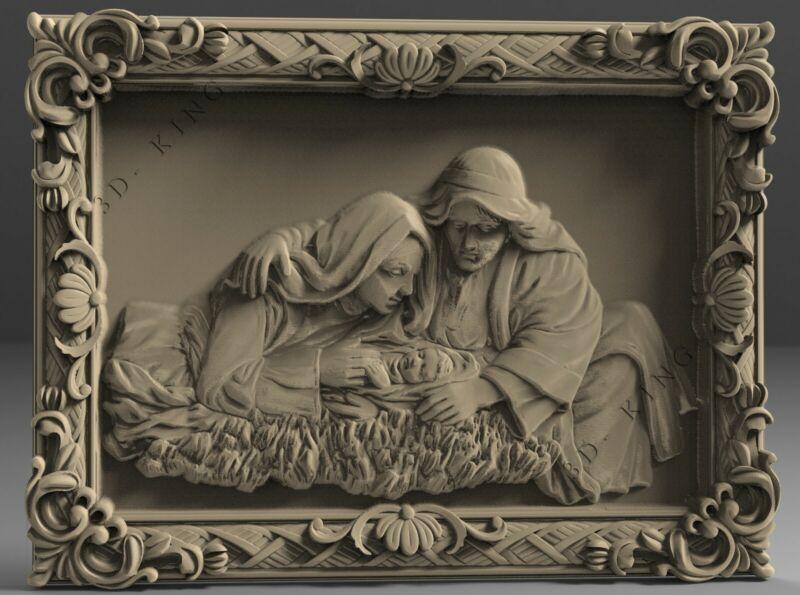 STL 3D Models # Shroud of Christ # for CNC 3D Printer Engraver Carving Aspire