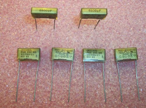 QTY (50) 6800pf 250V Y2 METALLIZED PAPER SUPPRESSOR CAPACITORS PME265MB468M RIFA