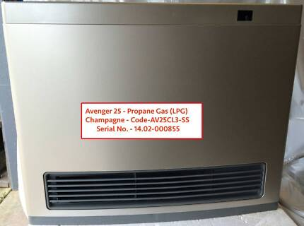 1 x Rinnai Avenger 25 - LPG - Champagne - 3m Hose Convect. Heater Caringbah Sutherland Area Preview