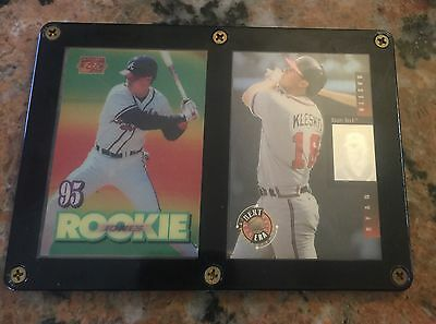 Ryan Klesko Chipper Jones Rookie Baseball Cards In Hard Plastic