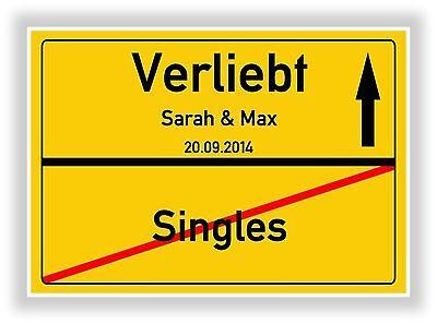 Ortsschild - Bild - Valentinstag - Geschenk - Verliebte - Singles Liebesgeschenk