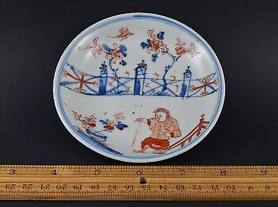 Antique Chinese Export Kangxi Imari Patterned Saucer Dish Early 18th Century