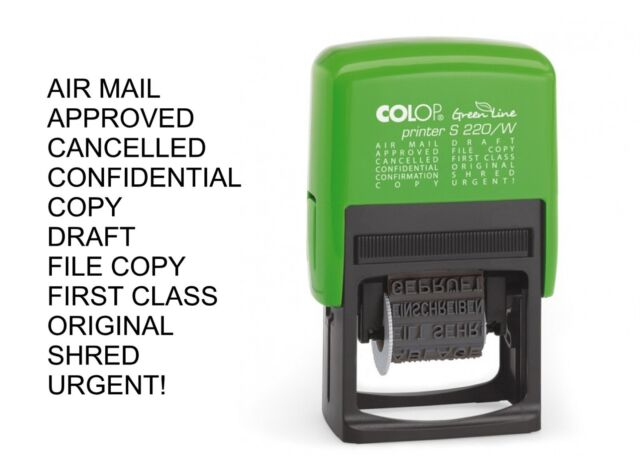 Colop S220/W Green Line Dial a Phrase Stamp GLS220W