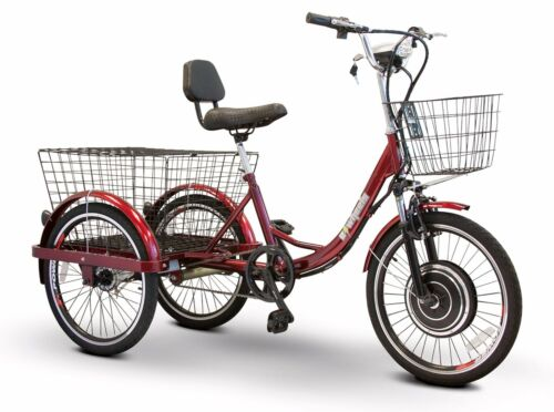 Electric Trike Ew-29, Goes Up To 15 Mph., Headlight, 2 Baskets, 400 Lb. Capacity