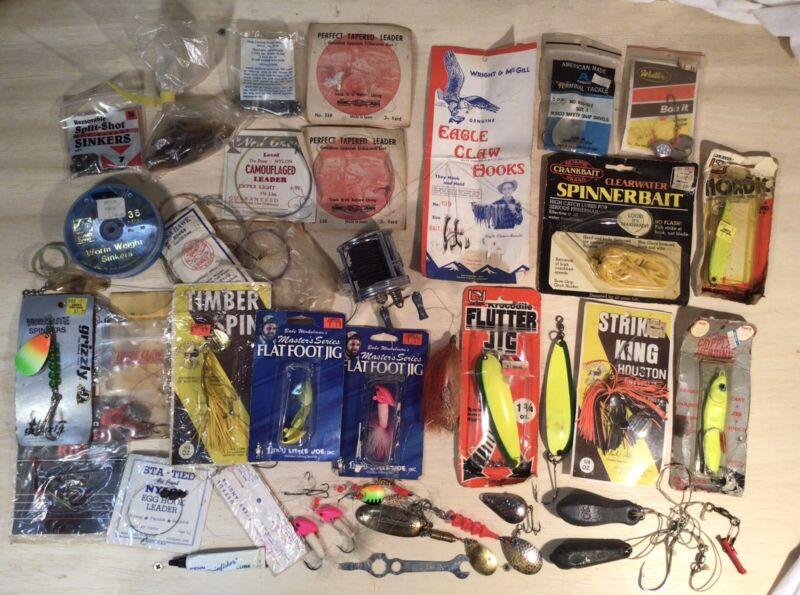 Fishing Lures Spinners Reel Weights Hooks Jensen BRONSON * Huge ASST VTG Lot