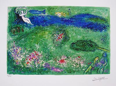 """MARC CHAGALL """"ORCHARD"""" Facsimile Signed Limited Edition Art Giclee ORCHARD"""