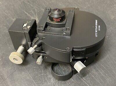 Leitz Microscope Condenser 513594 Top Polarizing Element Lens Pol 513675