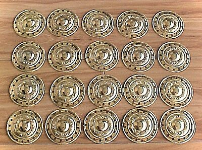 """LOT OF 20 NEW Metal  CONCHOS 2""""INCHES in Dia. Gold  in Color New"""