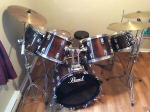 Pearl 7 piece drum kit