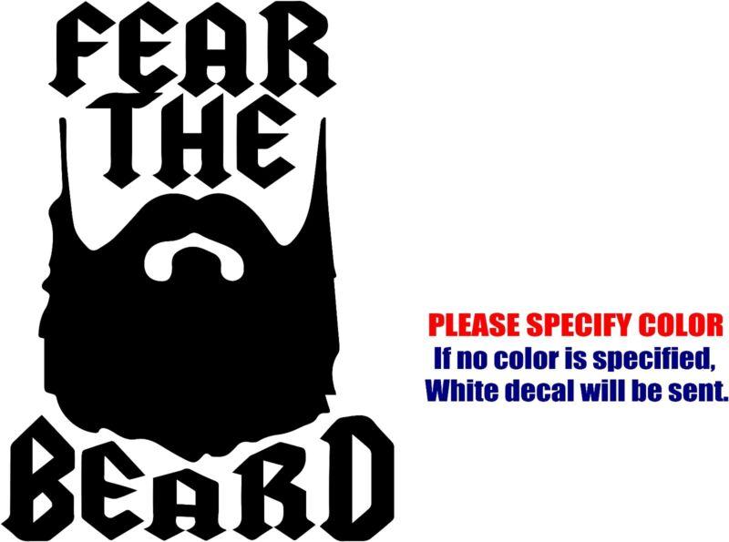 """FEAR THE BEARD #03 Decal Sticker JDM Funny Vinyl Car Window Bumper Truck 7"""""""