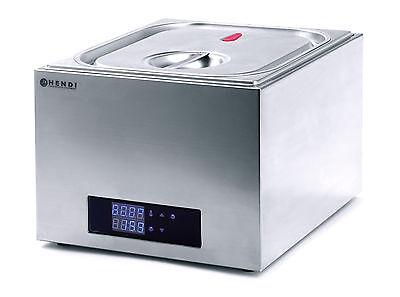 Hendi 13L CNS Gastronomie Sous Vide Gerät Wasserbad Niedertemperaturgaren GN 2/3