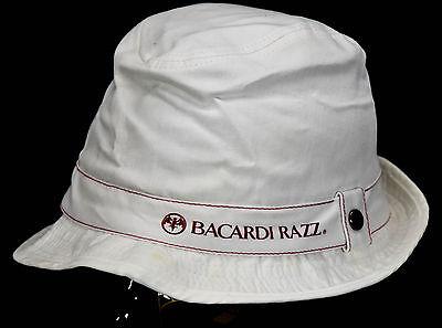 Bacardi Razz, Mütze, Sommermütze, Strandhut, Schlapphut, Anglerhut, weiß
