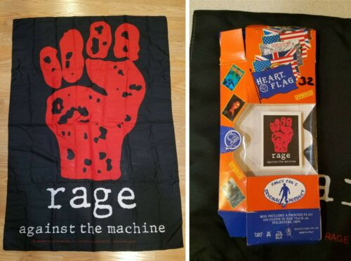 1994 Rage Against The Machine Flag Rare Vintage Tapestry Poster t shirt tix tour