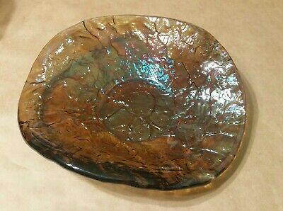 """JSG OCEANA KRS ART GLASS IRIDESCENT ALINA ART CENTERPIECE / FRUIT BOWL 11 3/4"""""""