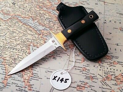 "Vintage Al Mar ""Fang"" fixed blade Boot Knife, slight use, full tang, Near Mint!"
