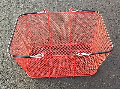 1 Convenience Store Shopping Supermarket Basket Steel Mesh Red Local Pickup