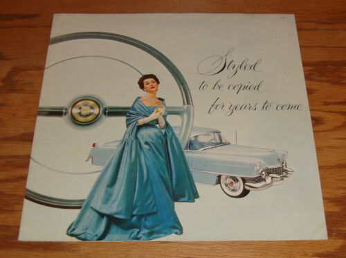 1954 Cadillac Styled to be Copied Full Line Deluxe Sales Brochure Mailer