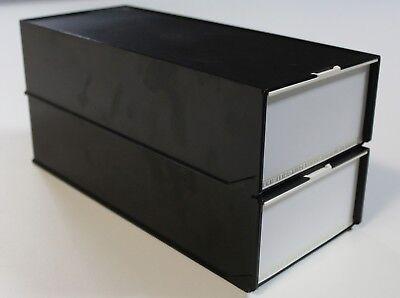 2 Stück LKM-Magazinbox 2x80 + 4 LKM-Magazine Diamagazin Diabox Leica Kindermann