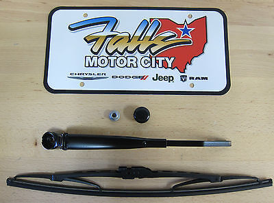 2008-2010 Grand Caravan Town & Country Rear Wiper Arm Nut Cap & Blade Mopar OEM