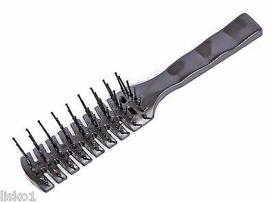 7 Rows Vent Hair Stylist Brush Black by Scalpmaster