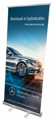 New Retractable Banner Stand - 33 X 79