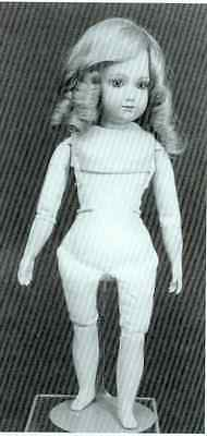 """11""""ANTIQUE MILETTE&SMALL FASHION DOLL CLOTH BODY(8.5"""" BODY ONLY) PATTERN"""